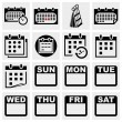 Stock Vector: Calendar vector icons set.