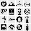 Royalty-Free Stock Vector Image: Hotel vector icons set on gray.