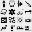 Stock Vector: Medical vector icons set.