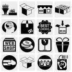 Shopping vector icons set. — Stock Vector #26268405