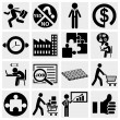 Business icons, human resource, finance, logistic icon set  — Stockvektor
