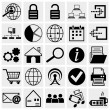 Web and Mobile vector icon set. — Stock Vector