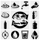 Water vector icons set. — Stock Vector