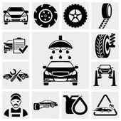 Car service vector icon set. — Stock Vector