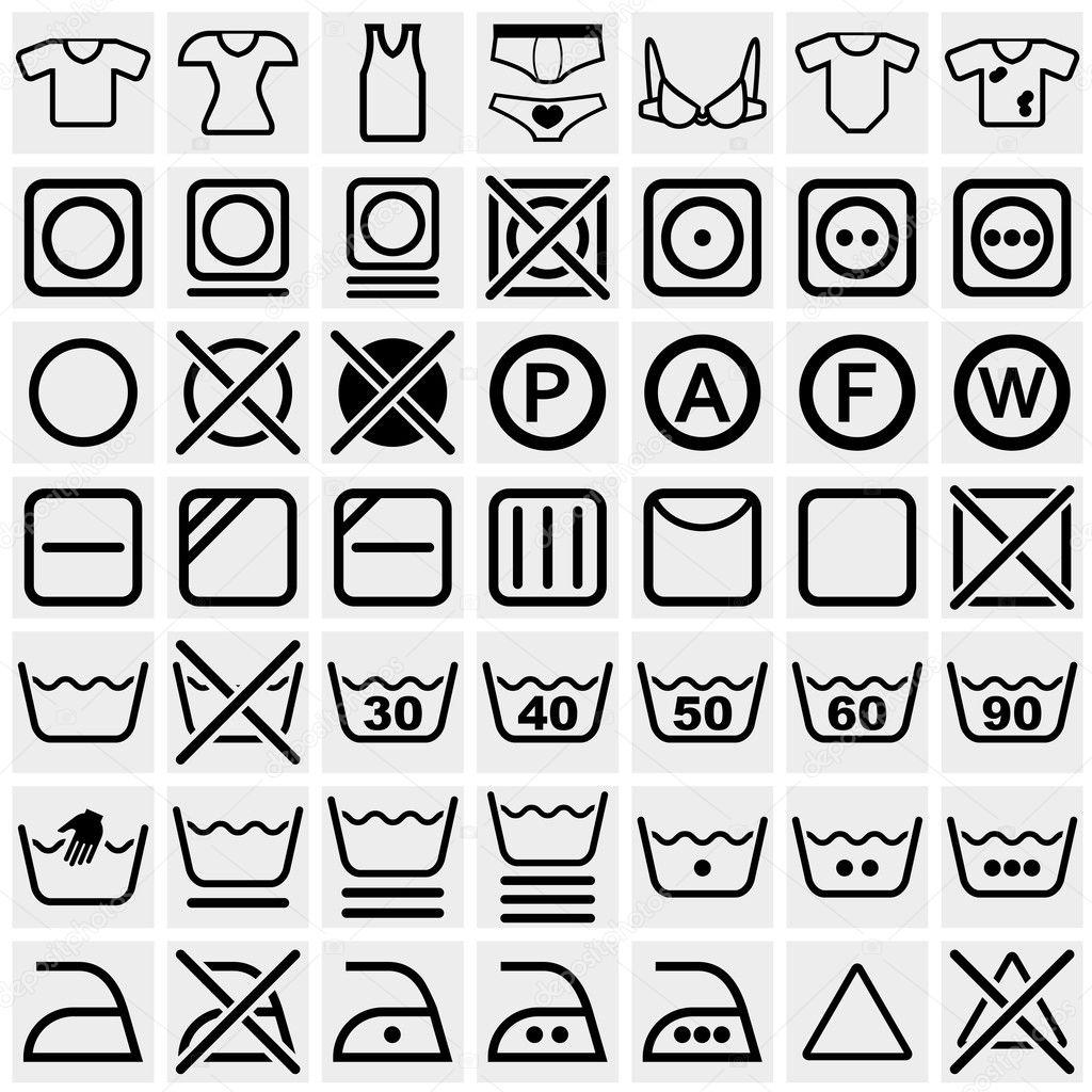 Wasch Symbole Waschmaschine Anleitung Symbole Bleichen