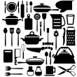 Kitchen tool. Cutlery vector icons set  — Stock Vector