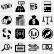 Business & Finance vector icons set on gray. — Stock Vector