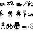 Camping vector icons set. EPS 10. — Stock Vector #32079325