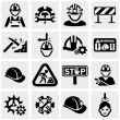 Stock Vector: Workers vector icons set