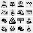 Workers vector icons set — Stock Vector #32079385