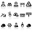 Workers vector icons set — Stock Vector