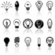 Stock Vector: Light bulbs vector icons set. EPS 10.
