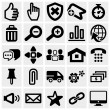 Set of social media vector icons set on gray. — Vecteur
