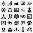 SEO vector icons set on gray.  — Stock Vector
