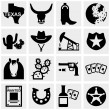 Texas vector icons set on gray. — Stock Vector