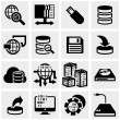 Stock Vector: Series vector icons set on gray