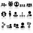 Business man vector icons set EPS 10 — Stock Vector