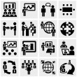 Stock Vector: Businessmvector icons set on gray.