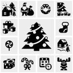 Christmas vector icon set. EPS 10. — Stock Vector