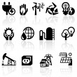 Electricity vector icon set — Stock Vector