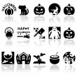 Halloween vector icons set. — Stock Vector
