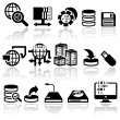 Series vector icons set — Stock Vector
