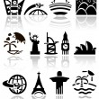Travel vector icons set — Stock Vector