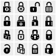 Lock vector icons set on gray — Vetor de Stock  #38727929