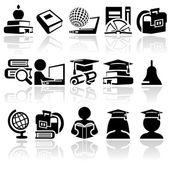 School vector icon set — Stockvector