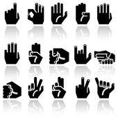 Hands vector cons set — Stock Vector