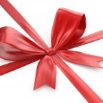 Shiny red ribbon — Stock Photo #38810845
