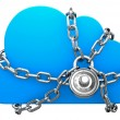 Cloud Secured with a Lock — Stock Photo