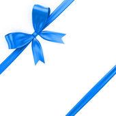 Shiny blue ribbon — Stock Photo