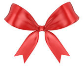 Red ribbon bow — Stock Photo