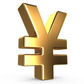 Sign of yuan — Stock Photo