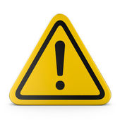 Hazard warning attention sign — Stock Photo