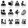 Working on computer vector icons set . EPS10. — Stock Vector #46625003