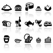 Food vector icons set . EPS10. — Stock Vector