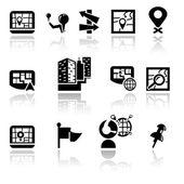 Navigation vector icons set. EPS 10. — Stock Vector