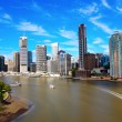 Stock Photo: Brisbane River and City