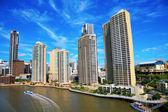 Brisbane River and City — Stock Photo