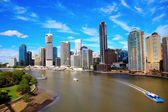 Brisbane River and City — Stock Photo