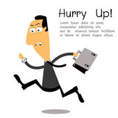 Hurry up! — Stock Vector