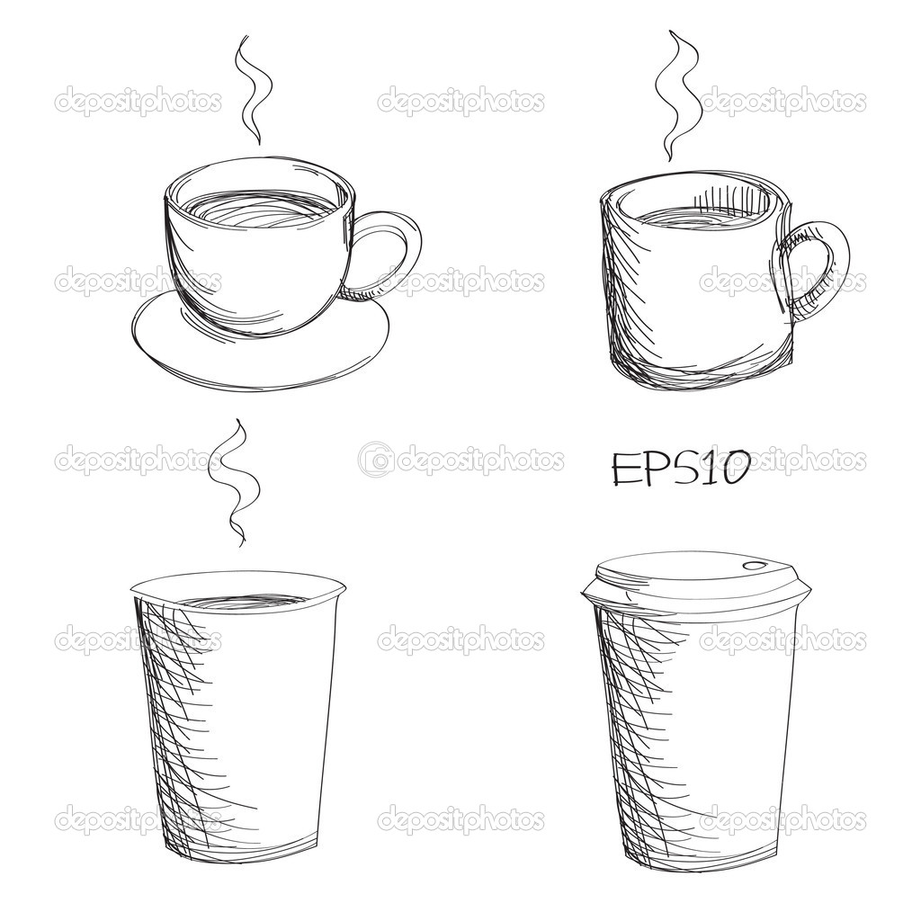 Coffee Mugs Drawing Drawing of Coffee Cup