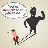 You are stronger than you think. — Vecteur