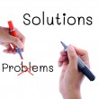 Solutions not problem — Stock Photo #29744911
