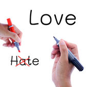 Love not hate — Stock Photo