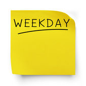 Weekday — Stock Photo