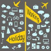 Biznes ikona ikony i ikona wakacje — Wektor stockowy