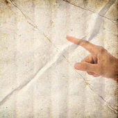 Hand pointing in vintage style — Stock Photo